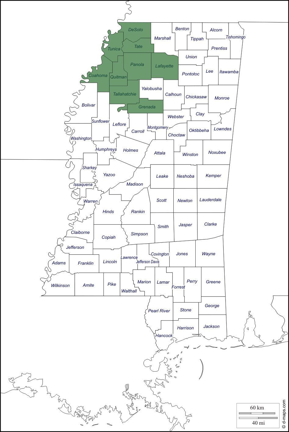 Mississippi Service Areas
